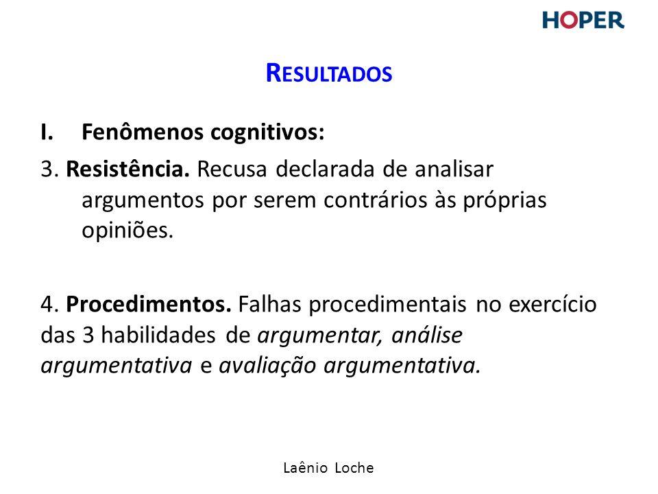 Laênio Loche I.Fenômenos cognitivos: 3.Resistência.