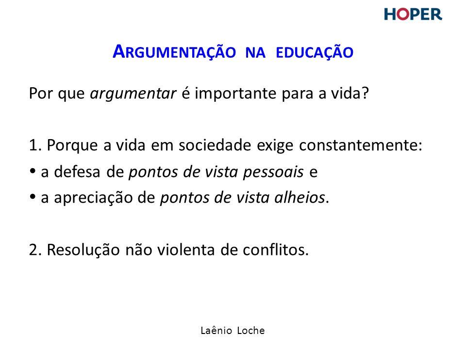 Laênio Loche Por que argumentar é importante para a vida.