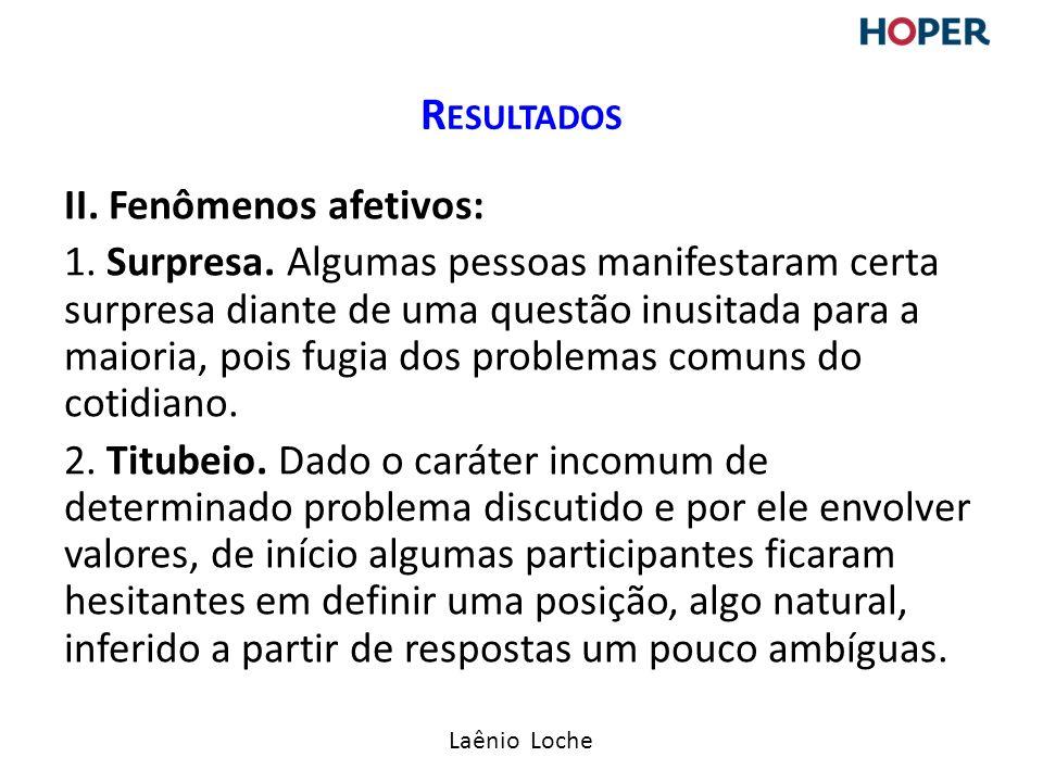Laênio Loche II.Fenômenos afetivos: 1. Surpresa.