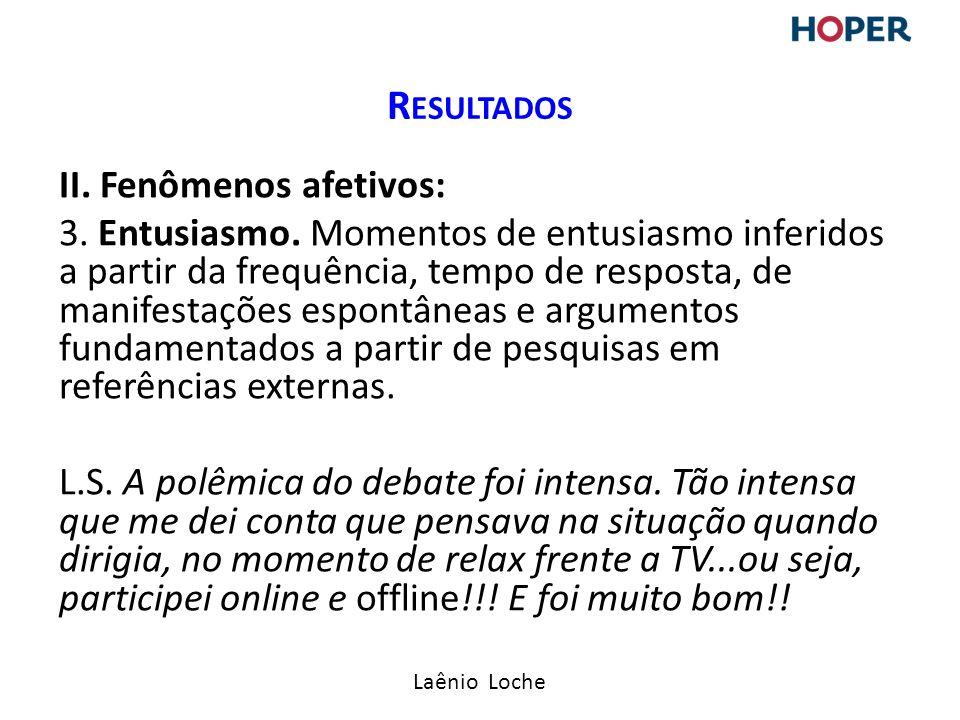 Laênio Loche II.Fenômenos afetivos: 3. Entusiasmo.