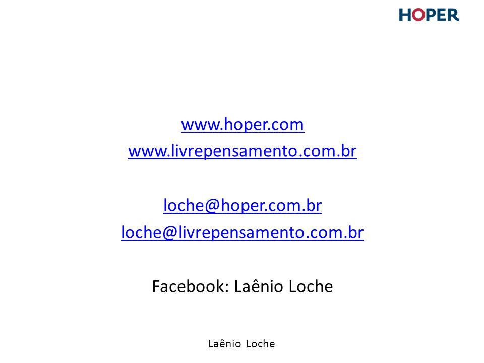 Laênio Loche www.hoper.com www.livrepensamento.com.br loche@hoper.com.br loche@livrepensamento.com.br Facebook: Laênio Loche