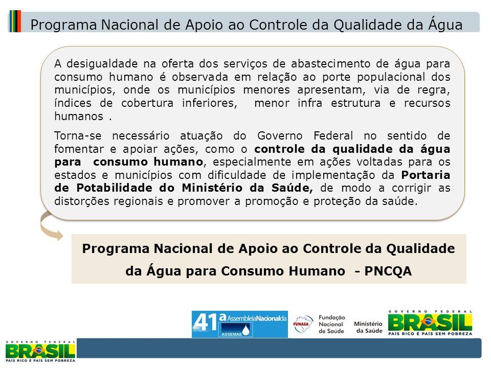 A desigualdade na oferta dos serviços de abastecimento de água para consumo humano é observada em relação ao porte populacional dos municípios, onde o