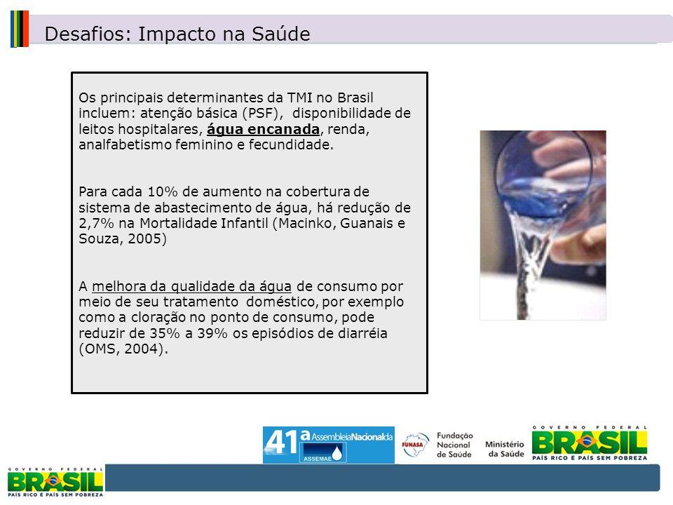 Os principais determinantes da TMI no Brasil incluem: atenção básica (PSF), disponibilidade de leitos hospitalares, água encanada, renda, analfabetism