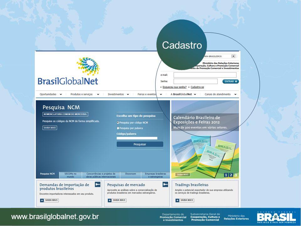 www.brasilglobalnet.gov.br Cadastro