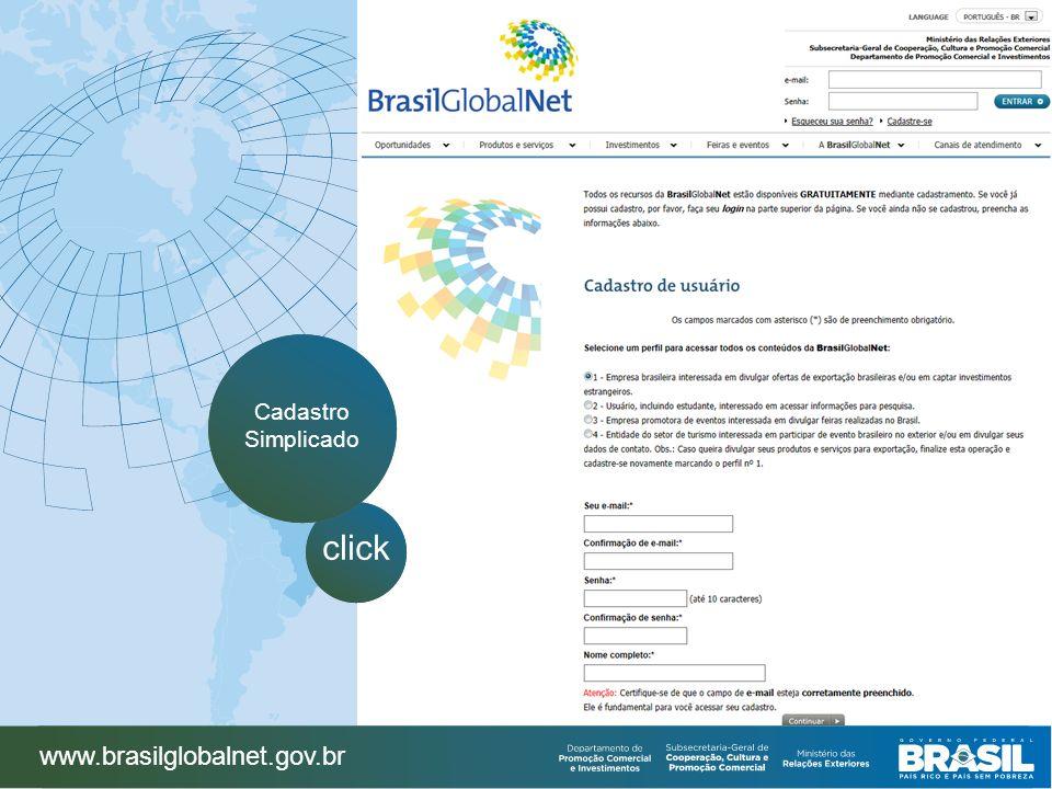www.brasilglobalnet.gov.br click Cadastro Simplicado
