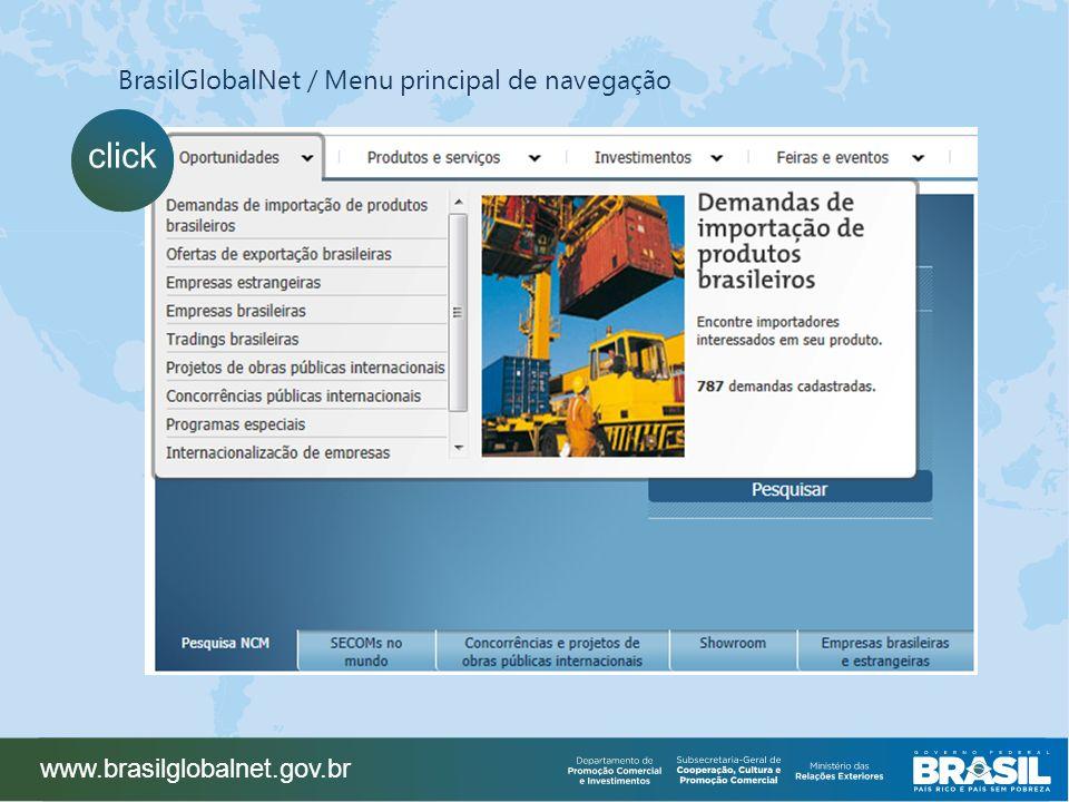 www.brasilglobalnet.gov.br click BrasilGlobalNet / Menu principal de navegação