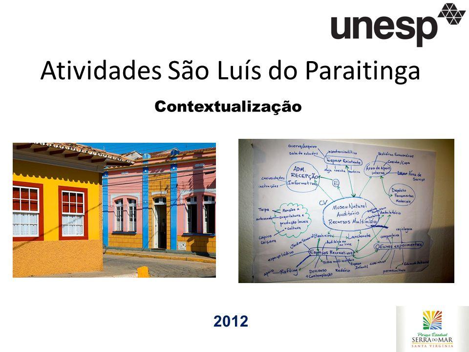 Atividades São Luís do Paraitinga 2012 Contextualização