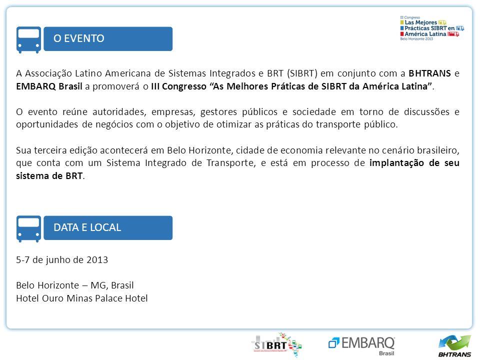 A Associação Latino Americana de Sistemas Integrados e BRT (SIBRT) em conjunto com a BHTRANS e EMBARQ Brasil a promoverá o III Congresso As Melhores Práticas de SIBRT da América Latina.
