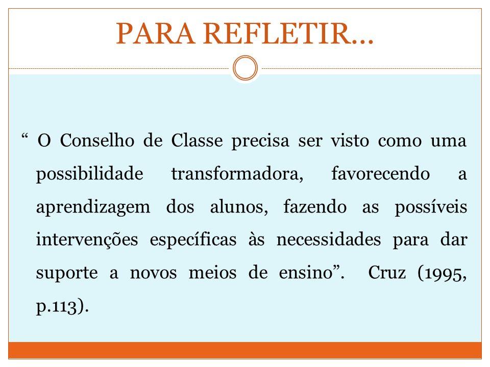 CAPÍTULO I - DOS ÓRGÃOS COLEGIADOS SEÇÃO III - DO CONSELHO DE CLASSE Art.