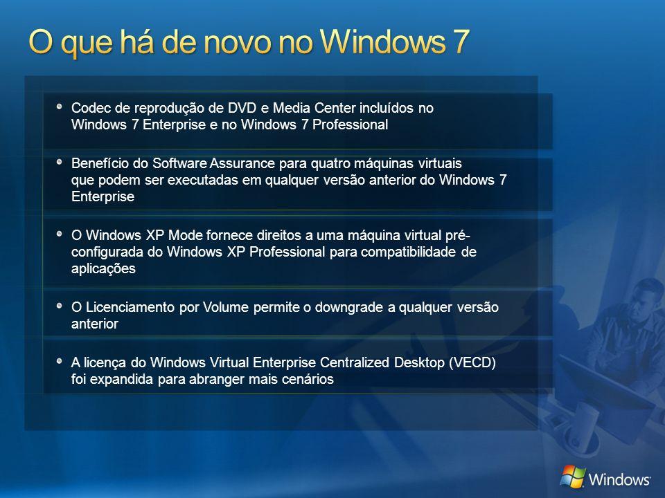 Codec de reprodução de DVD e Media Center incluídos no Windows 7 Enterprise e no Windows 7 Professional Benefício do Software Assurance para quatro má