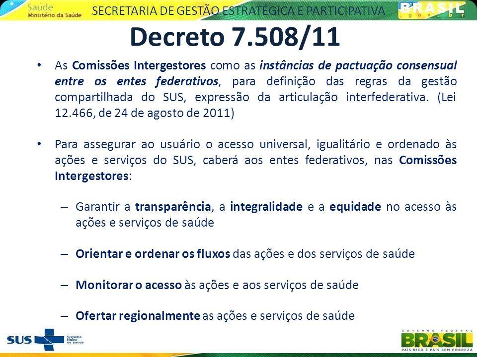 As Comissões Intergestores como as instâncias de pactuação consensual entre os entes federativos, para definição das regras da gestão compartilhada do
