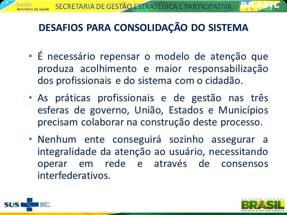 Assegurar a integralidade da atenção implica em fortalecer a governança do sistema, a gestão compartilhada nas regiões de saúde e a organização dos serviços em redes interfederativas.