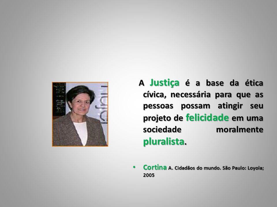 A Justiça é a base da ética cívica, necessária para que as pessoas possam atingir seu projeto de felicidade em uma sociedade moralmente pluralista. A