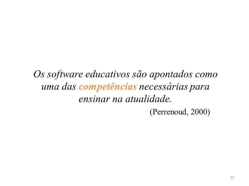 Os software educativos são apontados como uma das competências necessárias para ensinar na atualidade. (Perrenoud, 2000) 15