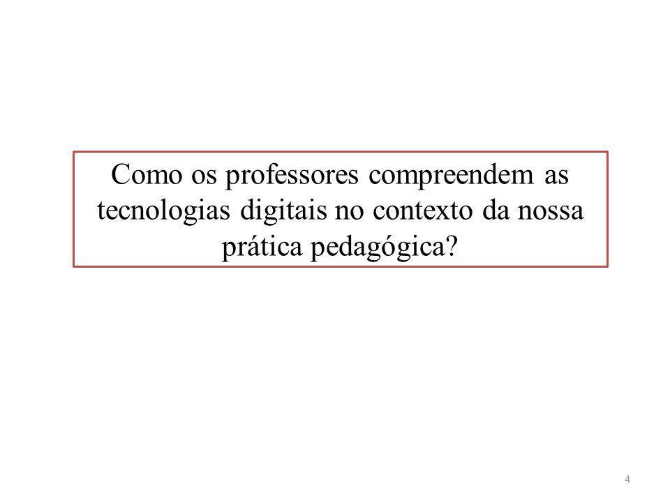 Como os professores compreendem as tecnologias digitais no contexto da nossa prática pedagógica? 4