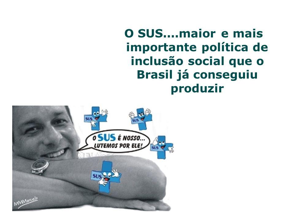 O SUS....maior e mais importante política de inclusão social que o Brasil já conseguiu produzir