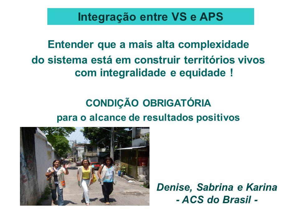 Denise, Sabrina e Karina - ACS do Brasil - Entender que a mais alta complexidade do sistema está em construir territórios vivos com integralidade e eq