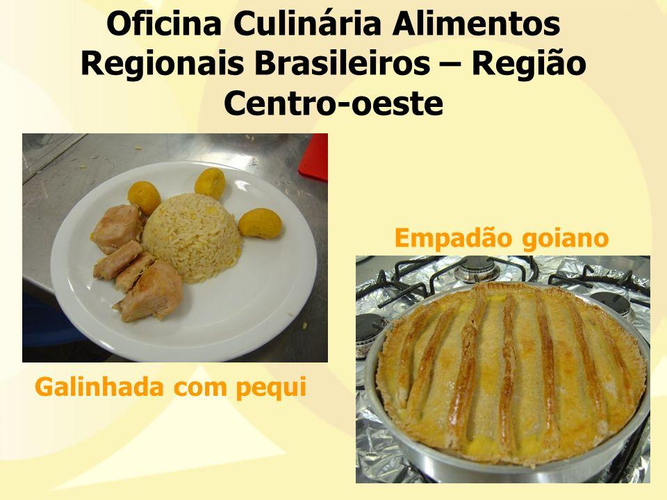 Oficina Culinária Alimentos Regionais Brasileiros – Região Centro-oeste Galinhada com pequi Empadão goiano