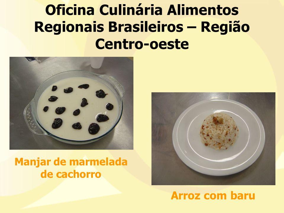 Oficina Culinária Alimentos Regionais Brasileiros – Região Centro-oeste Manjar de marmelada de cachorro Arroz com baru