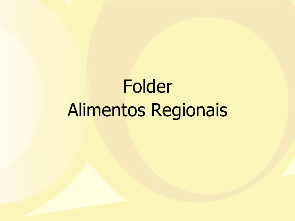 Folder Alimentos Regionais
