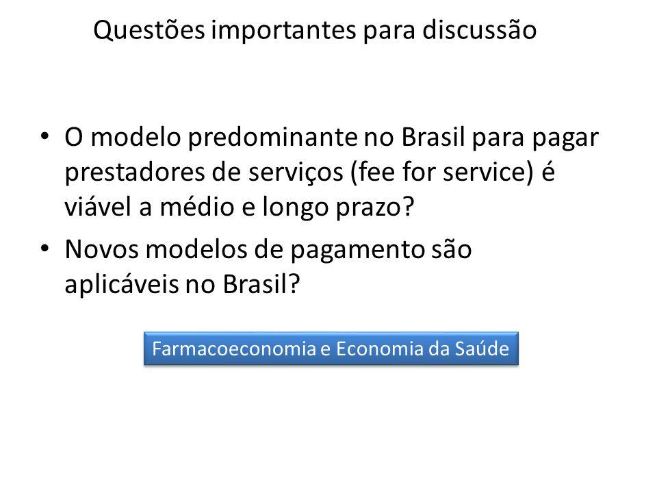 O modelo predominante no Brasil para pagar prestadores de serviços (fee for service) é viável a médio e longo prazo? Novos modelos de pagamento são ap