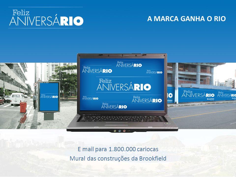 A MARCA GANHA O RIO E mail para 1.800.000 cariocas Mural das construções da Brookfield