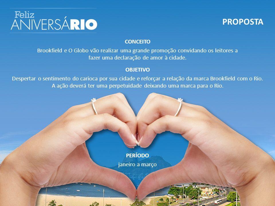 PROPOSTA CONCEITO Brookfield e O Globo vão realizar uma grande promoção convidando os leitores a fazer uma declaração de amor à cidade.