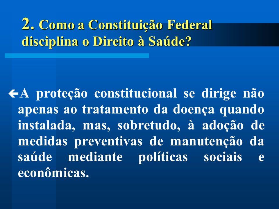 A proteção constitucional se dirige não apenas ao tratamento da doença quando instalada, mas, sobretudo, à adoção de medidas preventivas de manutenção