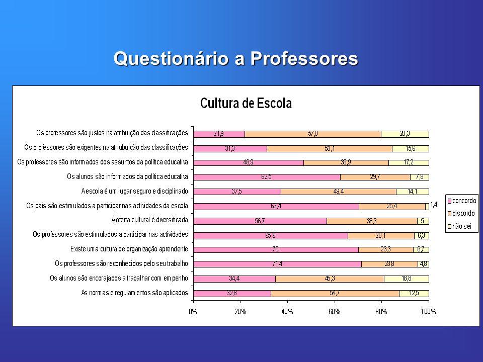 Questionário a Professores