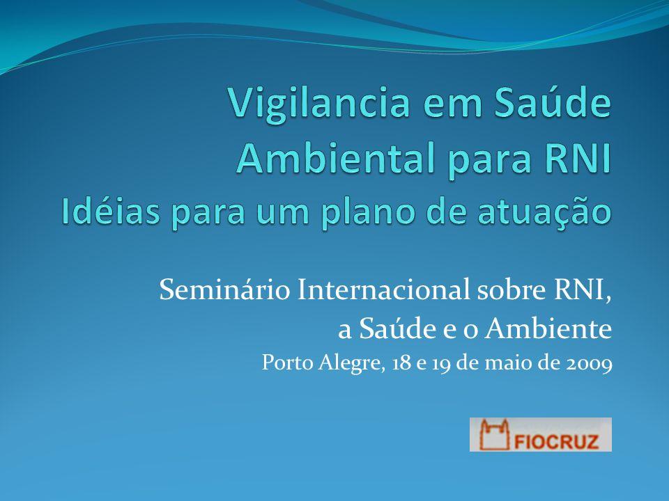 Seminário Internacional sobre RNI, a Saúde e o Ambiente Porto Alegre, 18 e 19 de maio de 2009