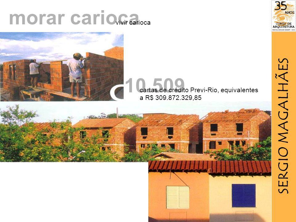 morar carioca 10.509 cartas de crédito Previ-Rio, equivalentes a R$ 309.872.329,85 vivir carioca SERGIO MAGALHÃES