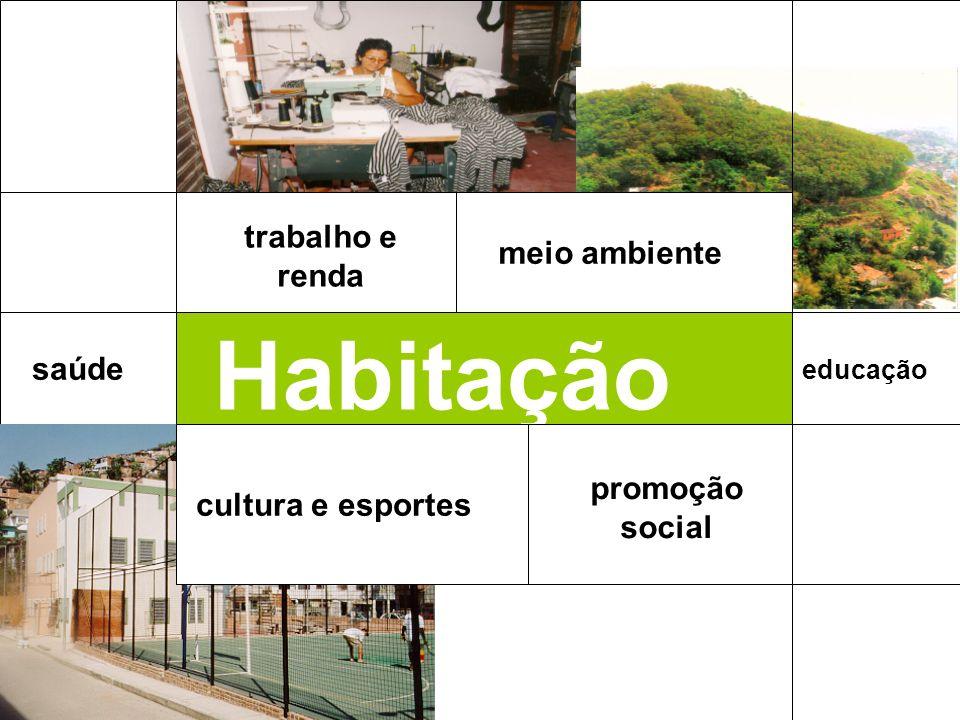 Habitação saúde promoção social educação meio ambiente cultura e esportes trabalho e renda