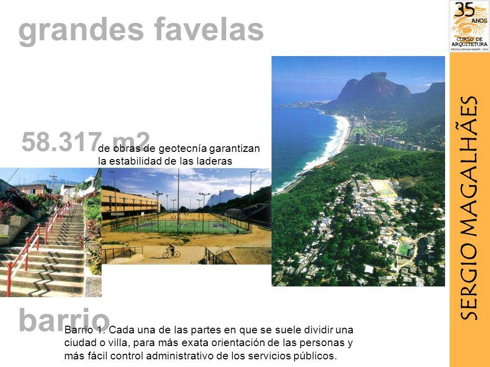 58.317 m2 de obras de geotecnía garantizan la estabilidad de las laderas grandes favelas barrio Barrio 1.