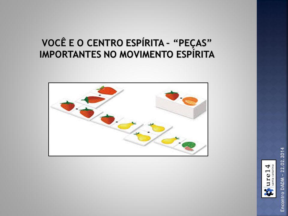 Encontro DADM – 22.02.2014 VOCÊ E O CENTRO ESPÍRITA – PEÇAS IMPORTANTES NO MOVIMENTO ESPÍRITA