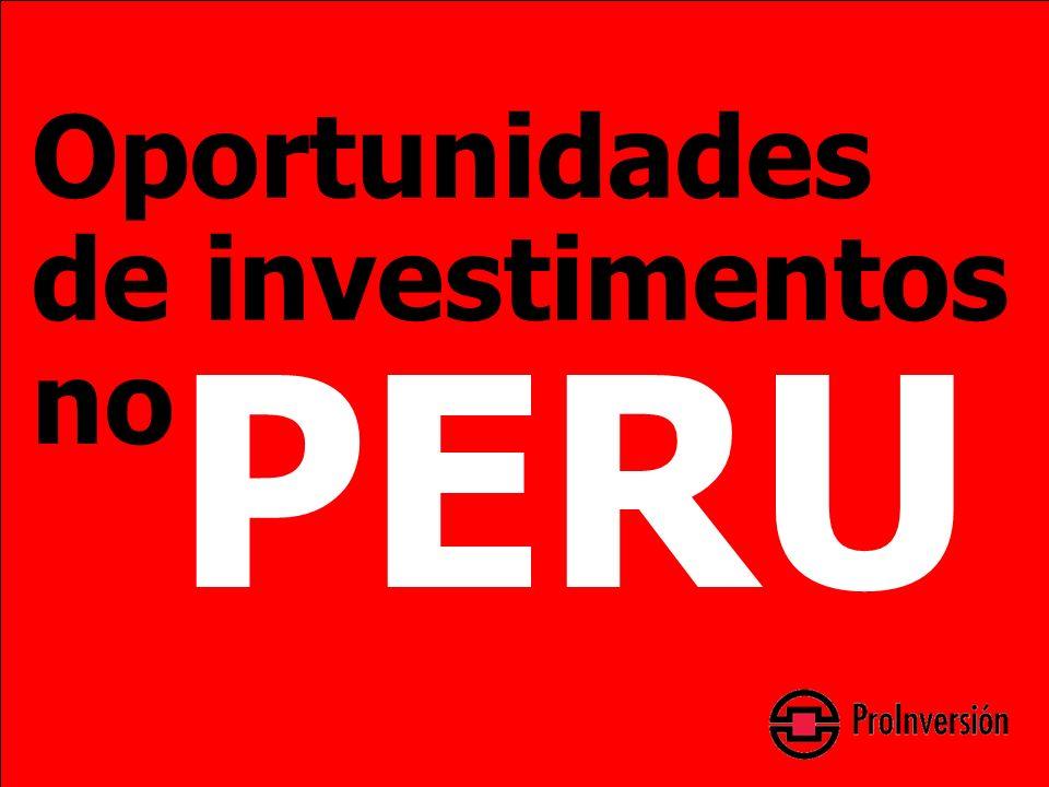 Oportunidades de investimentos no PERU