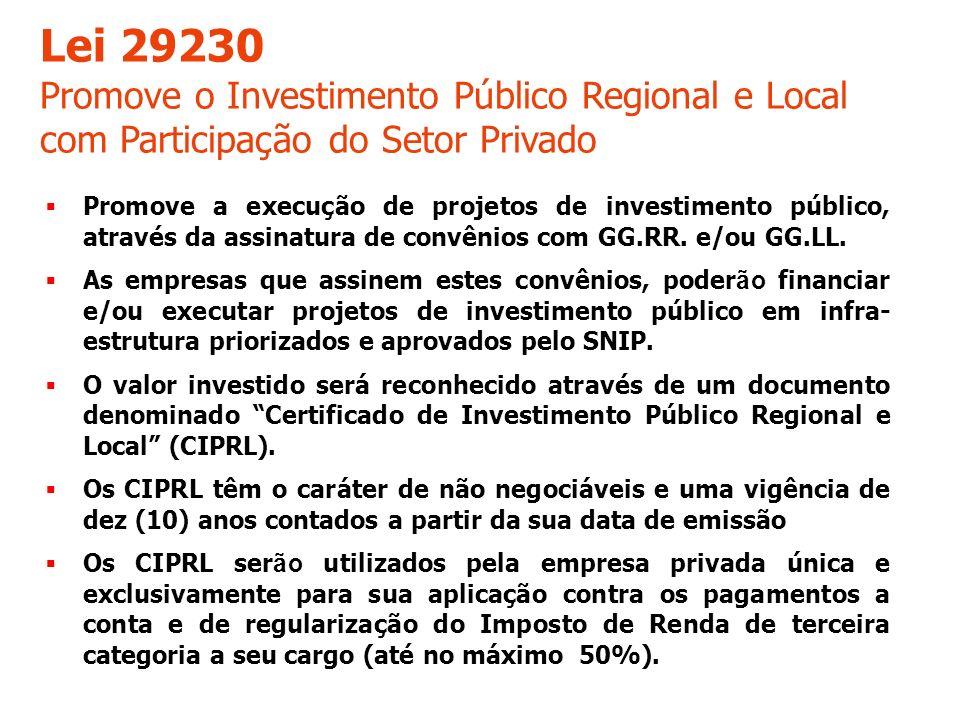 Promove a execução de projetos de investimento público, através da assinatura de convênios com GG.RR.