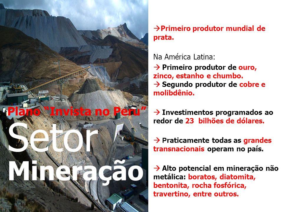 Plano Invista no Peru Setor Mineração Primeiro produtor mundial de prata.