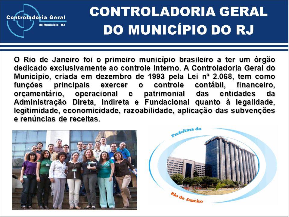 O Rio de Janeiro foi o primeiro município brasileiro a ter um órgão dedicado exclusivamente ao controle interno.