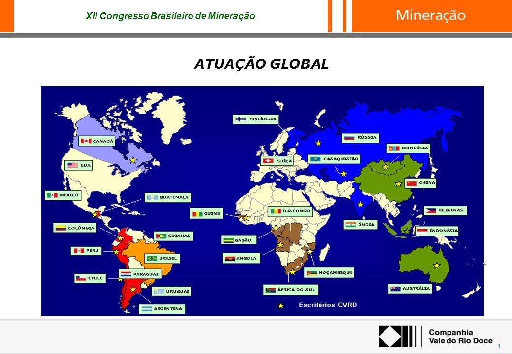 XII Congresso Brasileiro de Mineração 4 ATUAÇÃO GLOBAL