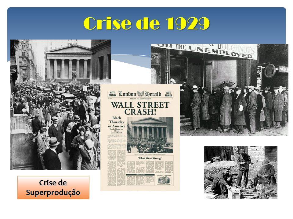Crise de 1929 Crise de Superprodução