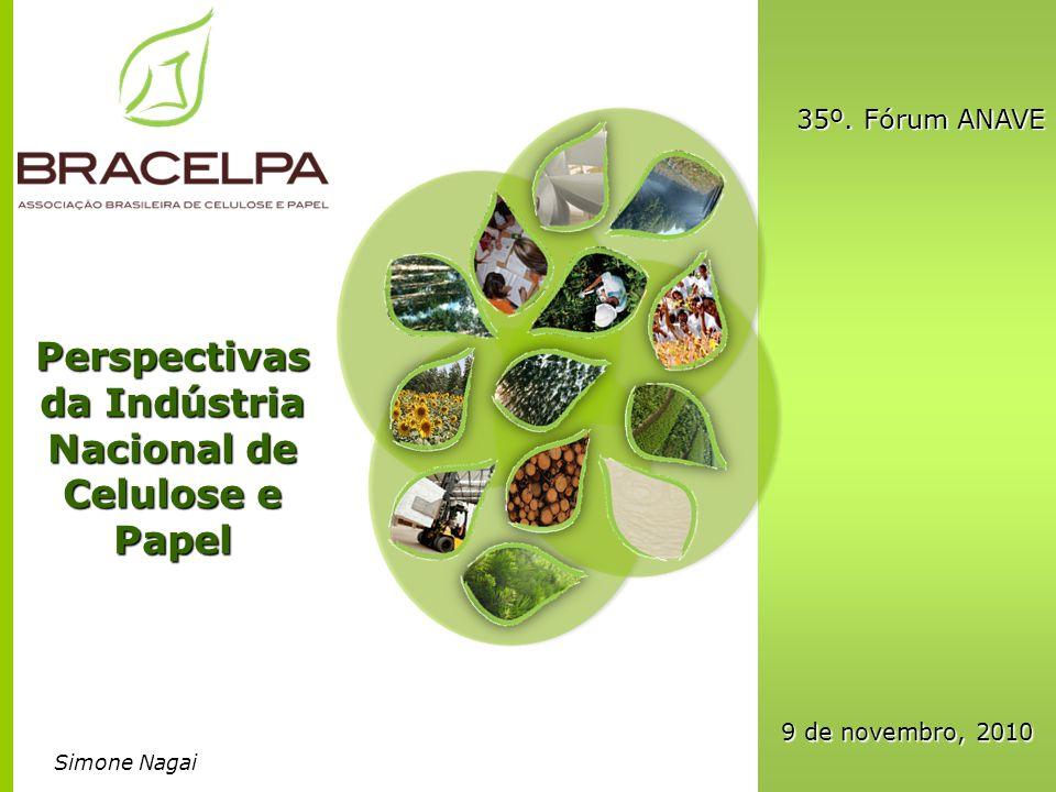 Perspectivas da Indústria Nacional de Celulose e Papel 35º. Fórum ANAVE 9 de novembro, 2010 Simone Nagai
