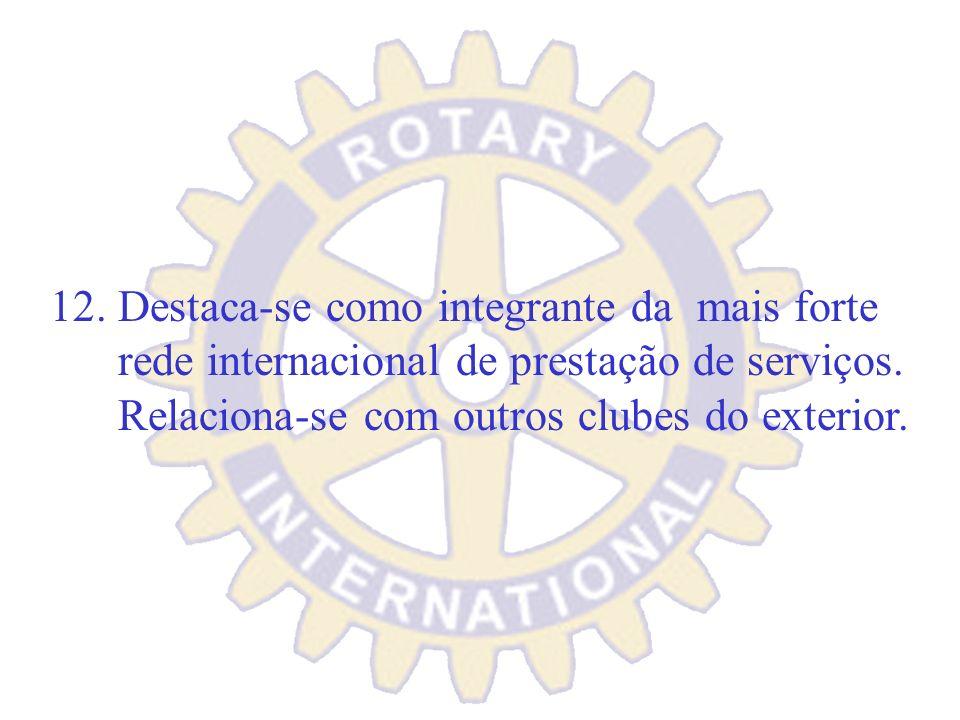 11. Dar grande importância às parcerias. Tanto no âmbito do Clube através dos Parceiros do Servir como com as mais diversas Organizações.