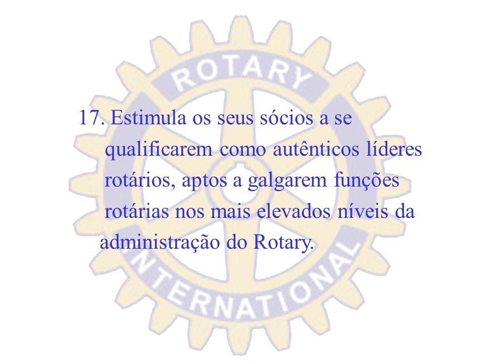 16. Promove Fóruns e Reuniões Interclubes, participa dos Eventos Distritais e até no Exterior.