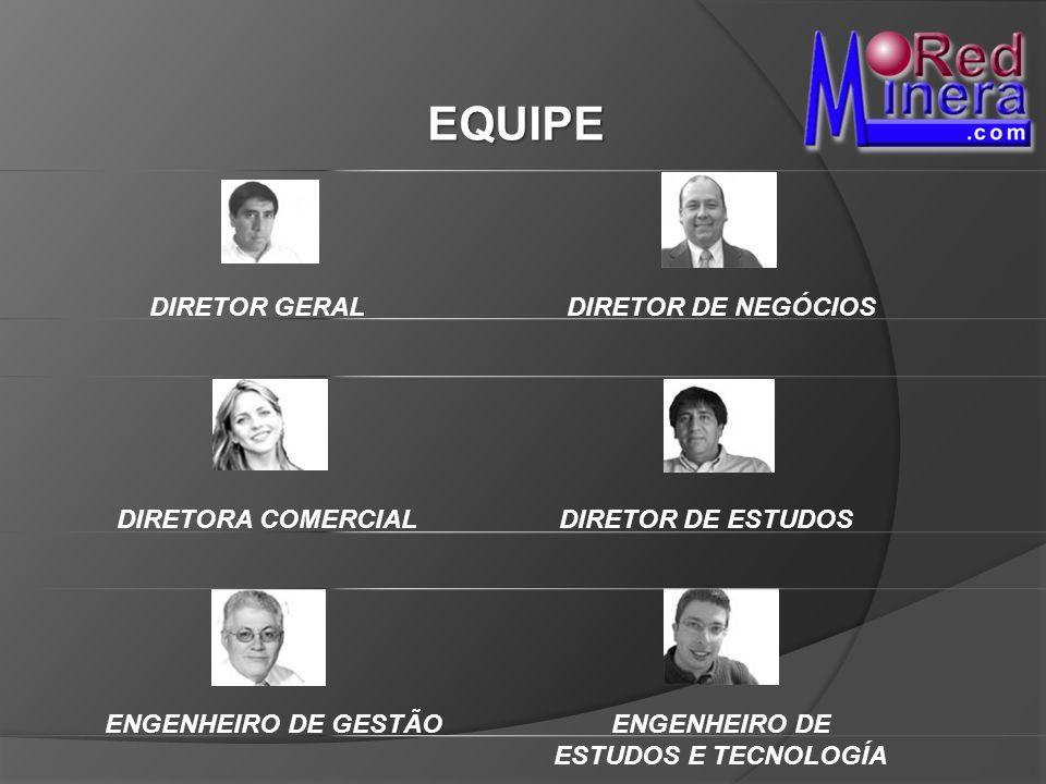 DIRETOR GERALDIRETOR DE NEGÓCIOS DIRETORA COMERCIALDIRETOR DE ESTUDOS EQUIPE ENGENHEIRO DE GESTÃO ENGENHEIRO DE ESTUDOS E TECNOLOGÍA