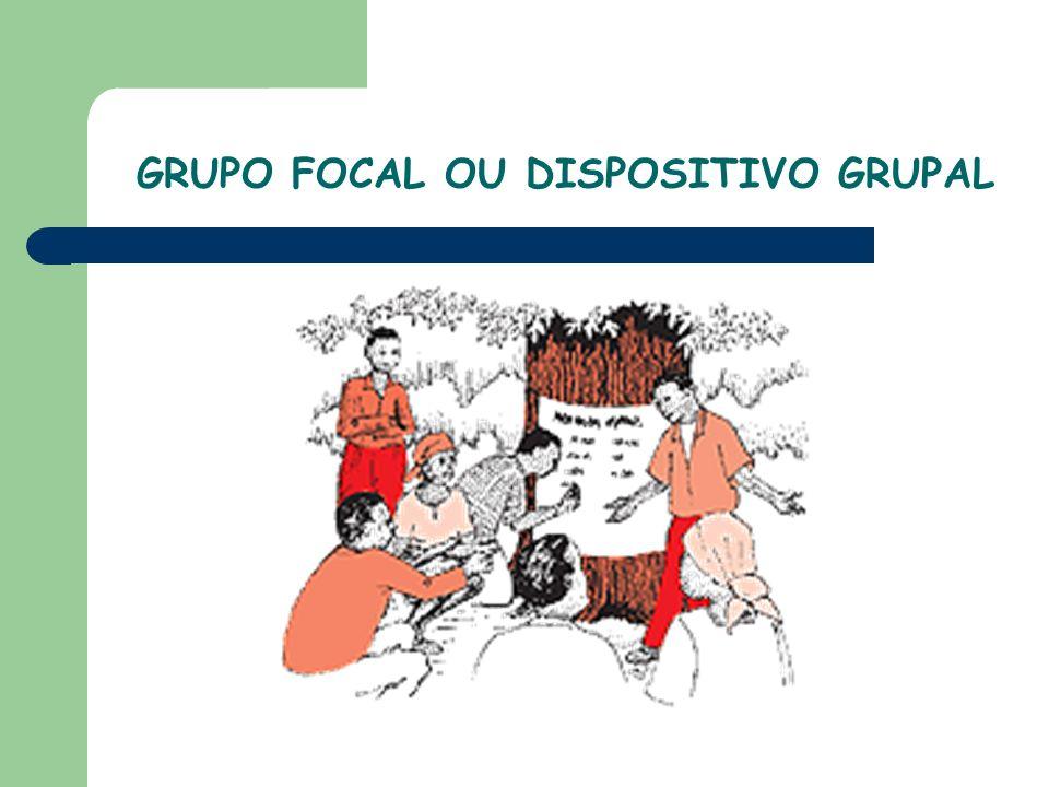 É uma técnica qualitativa e não-diretiva de coleta de informações; É composta por pequenos grupos de pessoas que se reúnem para discutir opiniões, crenças, atitudes e valores relacionados a um aspecto ou tema específico.