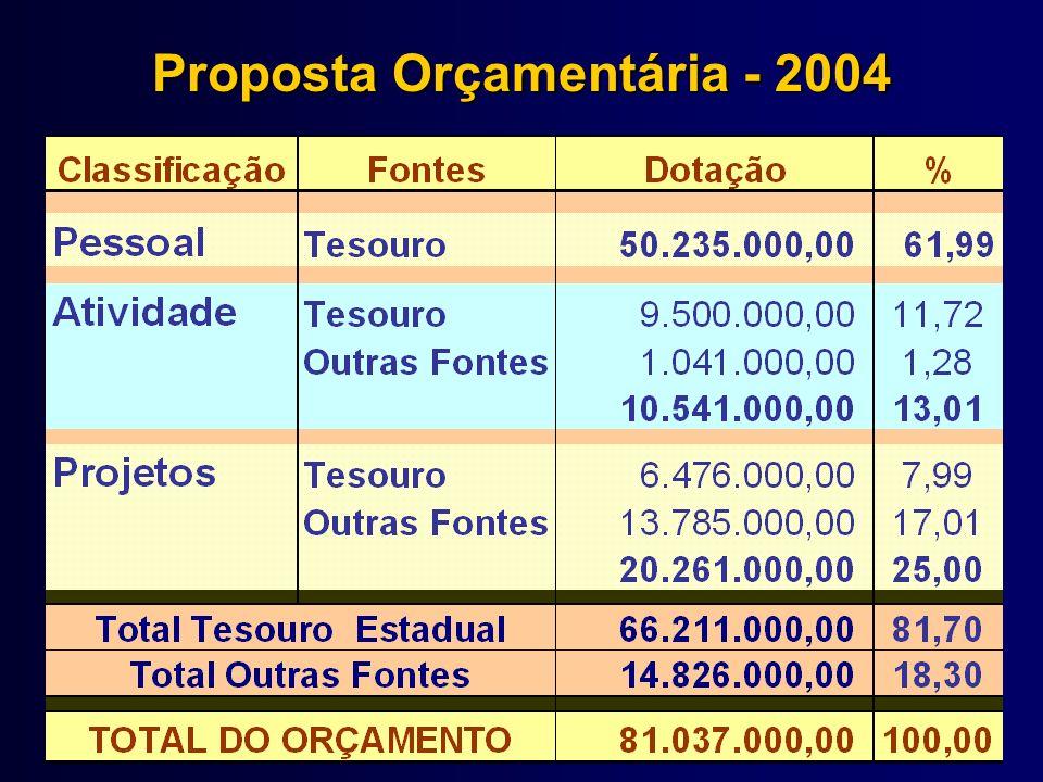 Plano Plurianual de Investimentos - PPA Recursos do Tesouro Estadual Período: 2004-2007