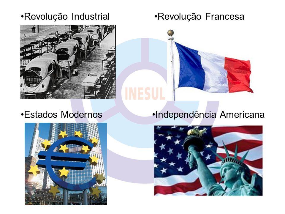 Revolução Industrial Estados Modernos Revolução Francesa Independência Americana
