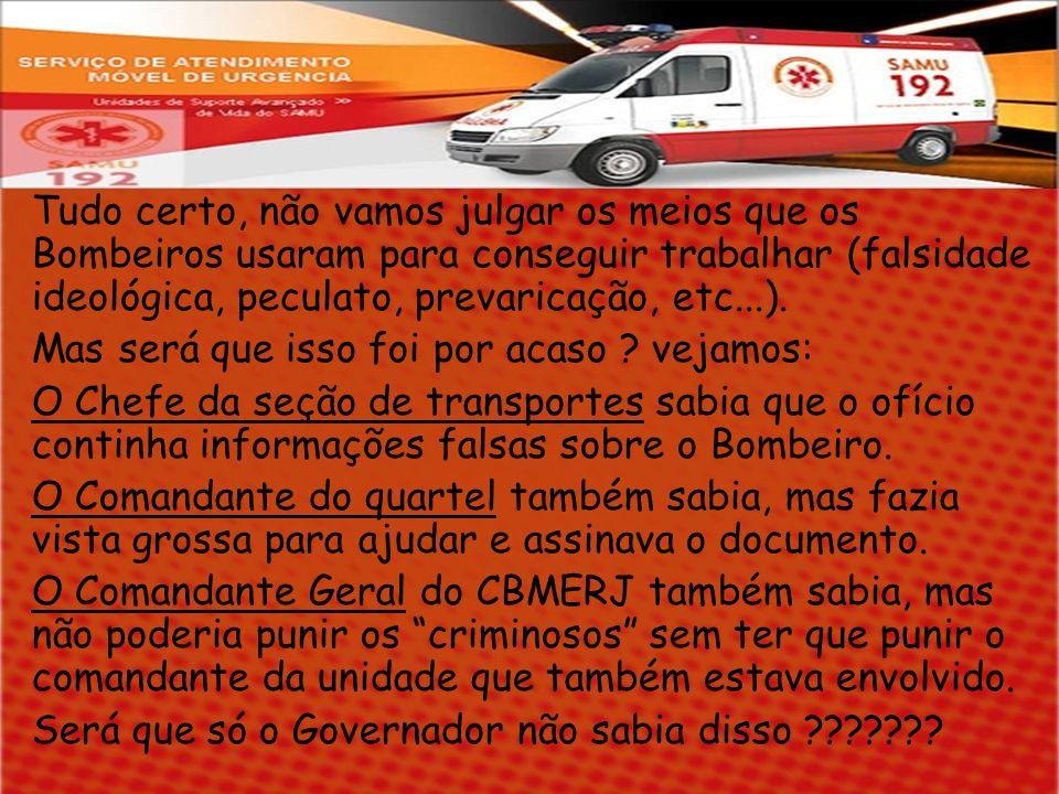 SEMPRE SOUBE DE TUDO Se o Governador Sérgio Cabral sabia, então, por que não fez nada .