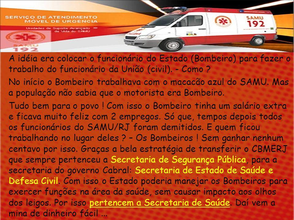 Se o SAMU é subordinado a uma administração Federal, então, a folha de pagamento dos seus funcionários é paga com recursos (impostos) da União.