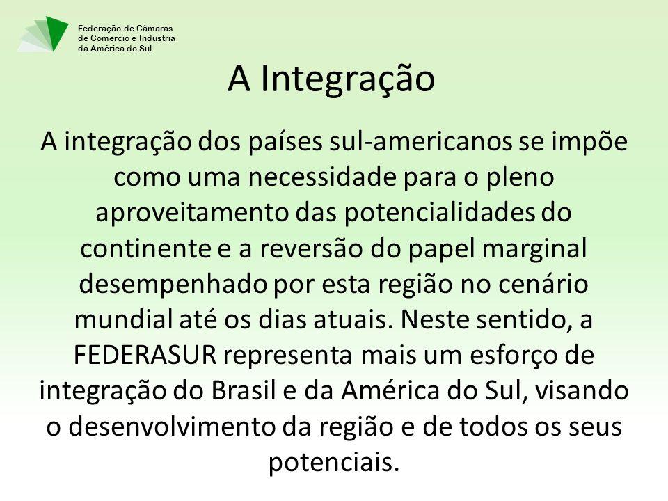 Federação de Câmaras de Comércio e Indústria da América do Sul A Integração A integração dos países sul-americanos se impõe como uma necessidade para